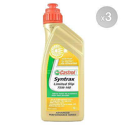 Castrol Syntrax Limited Slip 75W-140 Axle Fluid for LSD 75W140 3 Litres: 3 x 1L