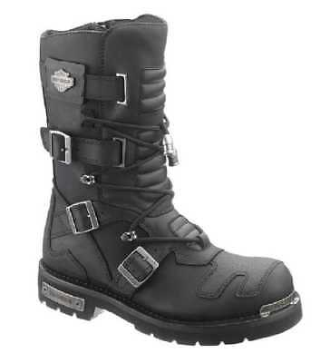 Harley-Davidson Men's Axel 10-Inch Black Motorcycle Boots D96035