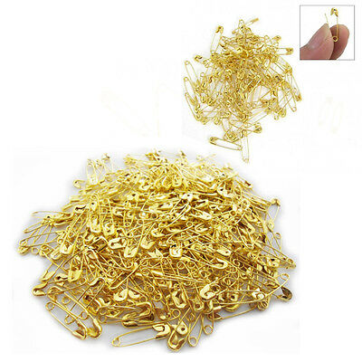 300 Mini Gold Safety Pins Sewing 18mm Brass Colour Small Pins Craft Work Pack
