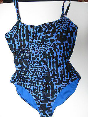 Island Escape Add a Size One Piece Swimsuit  Blue/Black  New w/ Tags