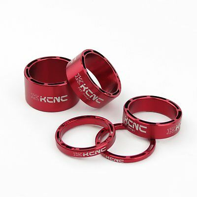KCNC Hollow Headset Stem Spacer Kit 3-5-10-14mm - Red