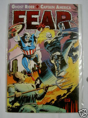 """Ghost Rider, Captain  America : """"fear"""" One-Off Graphic Novel. Marvel 1992"""