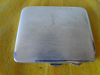 Cigarette Case, Engine Turn, Sterling Silver, Birmingham 1934, Art Deco
