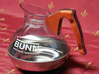 Decanter, coffee pot,Orange, Bunn, 06100.0101,decaf ,64oz, stainless steel