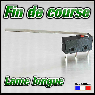 981LL# Fin de course 5A 125v lame longue  de 1 à 10pcs - micro switch