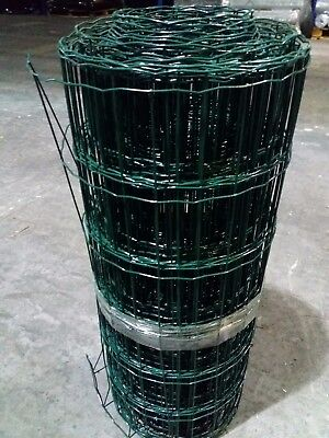 New PVC Coated Garden Border Wire Mesh Fence 600mm / 900mm / 1200mm X 10m / 25m