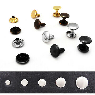Double cap rivets 4.5 6 7 9 or 11 mm diameter Studs Leather craft rapid rivets
