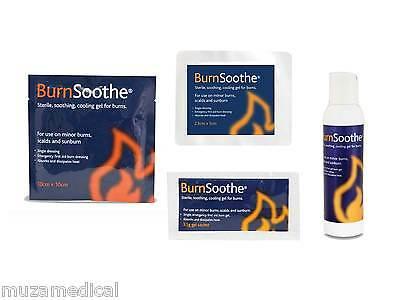BURNSOOTHE Cooling Gel Relief for Burns Scalds First Aid Emergency Burncare