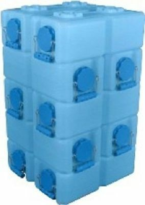 32 WaterBrick Stackable Water Food Ammo Storage Containers- Blue 3.5 Gallon