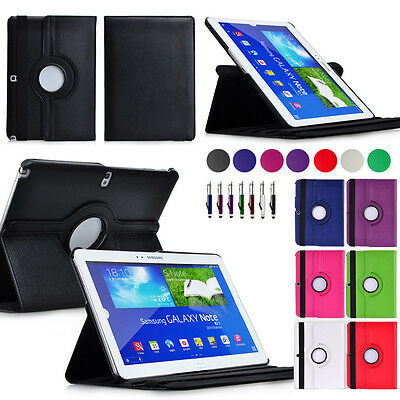 360°Rotating Case Cover for Samsung Galaxy Note 10.1 2014 Edition P600 P601 P605