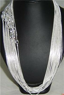 """Wholesale XMAS Gift Unisex Silver Plate Snake Chain Necklace 22"""" 1.2mm 20pcs"""