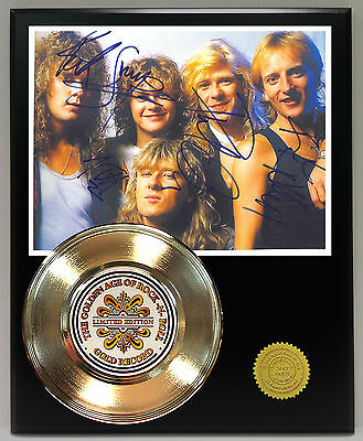 Def Leppard Gold 45 Record Signature Series Ltd Edition  Free Us Shipping