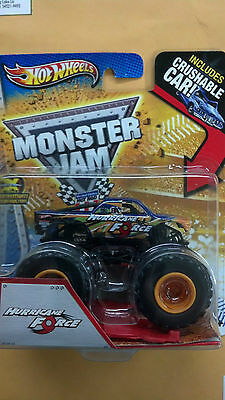 HOT WHEELS, MONSTER JAM, HURRICANE FORCE, INCLUDES CRUSHABLE CAR