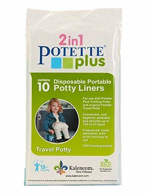 NEW Kalencom Potette Plus On the Go Potty Liner Re-Fills 10-Pack