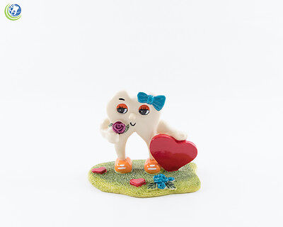 Dental Figurine Decoration Tooth Molar Sweetheart Hand-painted Resin Collections