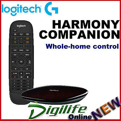 Logitech Harmony Companion Whole-home Control Universal Remote iOS or Android