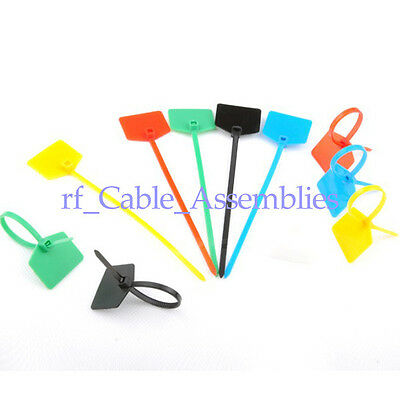 100pcs Organise your leads and cable 3*120mm CABLE TIES Write on labels Hot