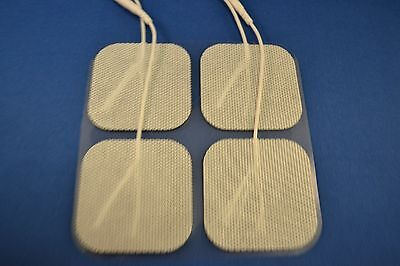40 Replacement Pads for Massagers / Tens Units electrode pads2x2Inch White Cloth