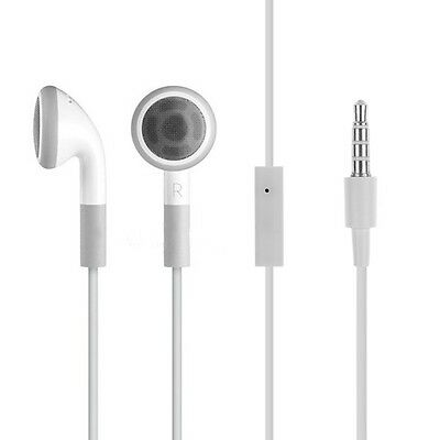 White Headphone Earbuds Earphone w/ Mic for iPhone 4 4S 5 5S 5C 3GS iPod MP3 MP4