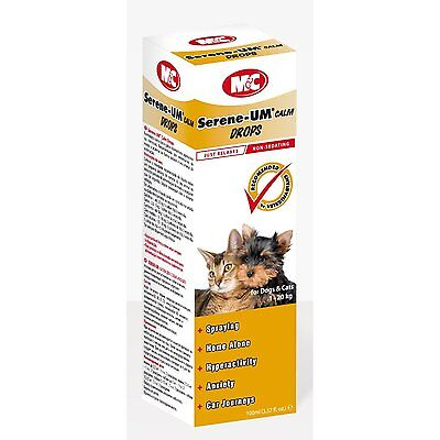 M&C Serene-UM Calm Drops for Dogs & Cats 100ml Calms & Soothes Anxious Pets