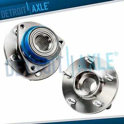 Set of (2) NEW Front Driver and Passenger Wheel Hub and Bearing Assembly w/o ABS
