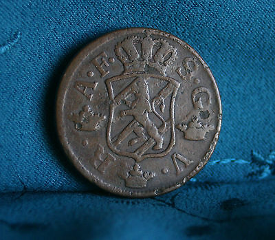 Sweden 2 Ore 1758 Copper World Coin Scandinavia Rampant Lion crown arrows Rare