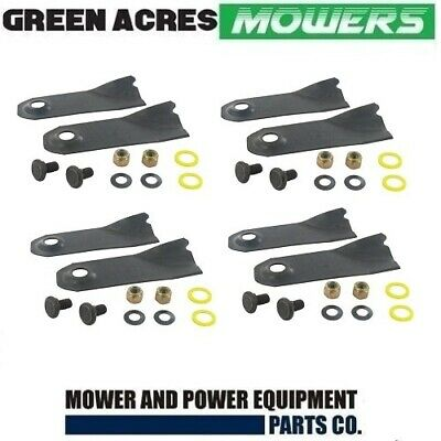 8 X Blades & Bolts For 19  Inch Victa Mowers Cao9393S