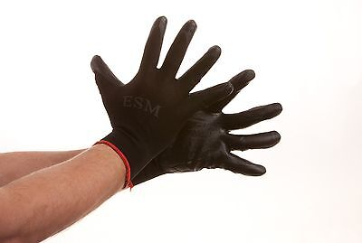 300 Pairs Premium Tough Nitrile Coated Palm Work Gloves M L XL