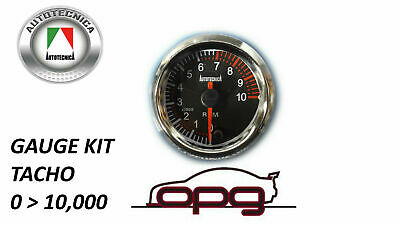Performance Tachometer 52Mm Analog Gauge Black Face 7 Color Lighting Tacho Rpm