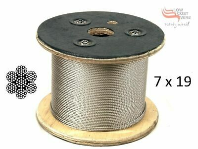 150M Stainless Steel Bore Pump Cable 3.2mm 316 Grade 7x19 Rated 690kg MBS