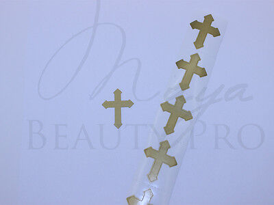 50 Tanning Tattoos CROSS Church Scrapbooking Crafts Tanning Bed Sticker