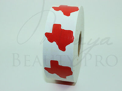 Roll of 1000 TEXAS STATE Tanning Sticker Scrapbooking Tanning Bed Tattoo