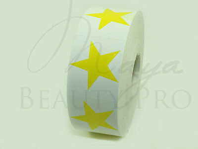 Roll of 1000 STAR Tanning Sticker Scrapbooking Yellow Star Tanning Bed Tattoo
