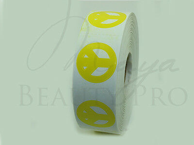 Roll of 1000 PEACE SIGN Tanning Sticker Scrapbooking SpraytanTanning Bed Tattoo