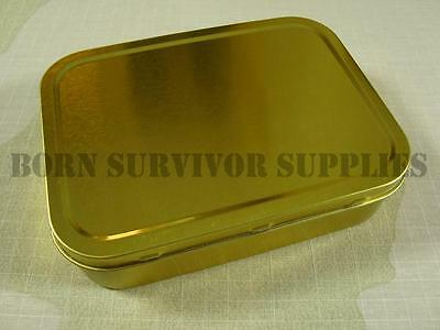 SURVIVAL KIT TIN - Large Empty 2oz Tobacco Baccy Plain Metal Storage Bit Box SAS