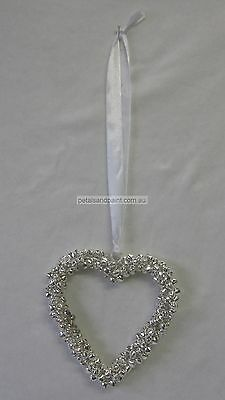 Pretty Hanging Metal Heart Decoration Made of Silver Bells Great Wedding Decor