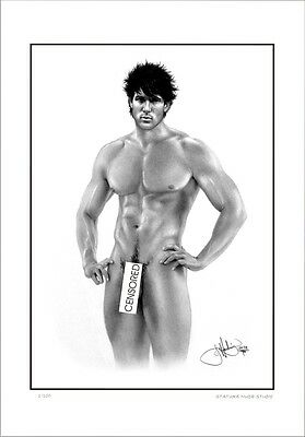 Male  Nude    Study   Stature      Gay  Interest          Limited Edition