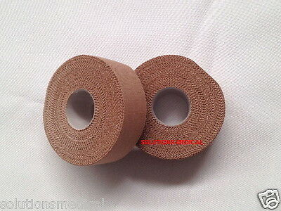 Premium Physio Sports Tape Rigid Strapping Tape 2.5Cm X 13.7M Flesh Coloured X 2