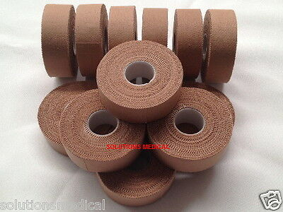 Premium Physio Sports Tape Rigid Strapping Tape 2.5Cm X 13.7M Flesh Coloured X12