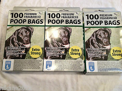 dog poo bags poop doggy/puppy/pet premium extra strong scoop new quality 300