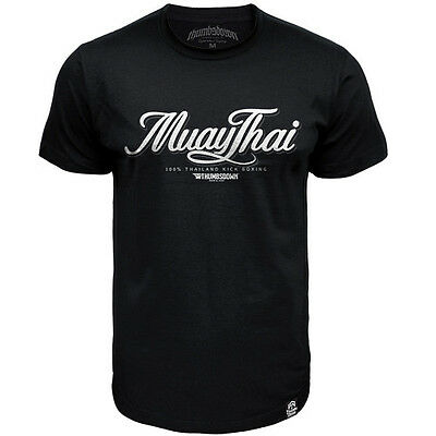 Tshirt Thumbsdown Muay Thai !!! Ideal For Mma, Training, Casual Wears! Ts323 Blk