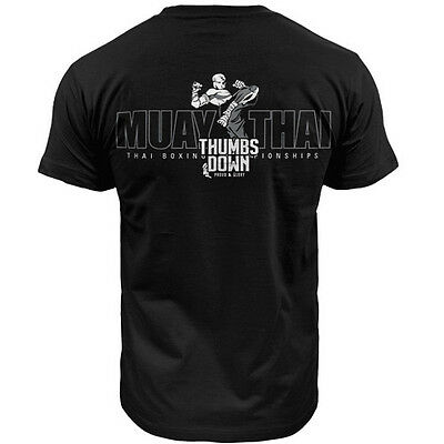 T-Shirt Thumbsdown Muay Thai ! Ideal For Mma, Training, Casual Wears! Ts324 Blk