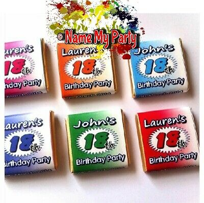 30 x Personalised Mint Chocolate Birthday Favour 18th 21st 30th 40th 50th 60th