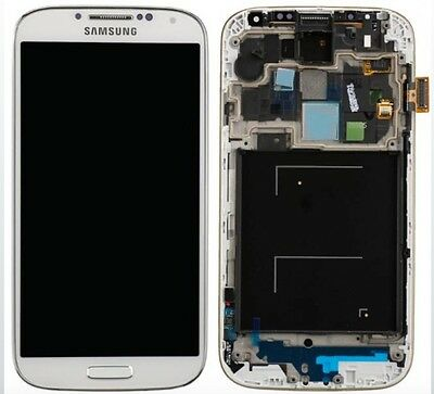 LCD + DISPLAY COMPLETO TOUCH ORIGINALE SAMSUNG GALAXY S4 GT-I9505 BIANCO WHITE