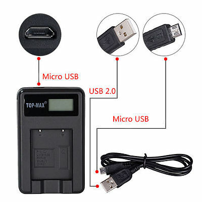 USB Battery Charger for Sony NP-FW50 Nex-5 Nex-5N Nex-C3 NEX-3 Alpha SLT-A35 A33