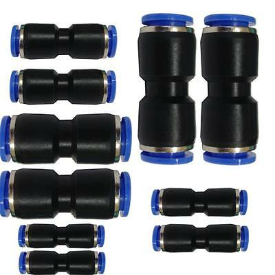 Assorted metric equal straight push fit speed connector couplings (4-12mm)