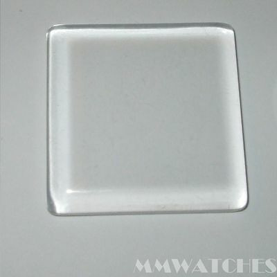 NEW SQUARE CRYSTAL CLEAR FLAT GLASS CABOCHONS 30mm x 30mm C24