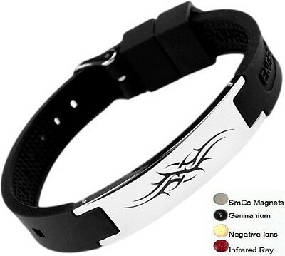 Tatoo Magnetic Energy Germanium  Power Bracelet Health 4in1 Bio Armband BAND