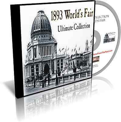 Ultimate Collection Books, Photos, Illustrations 1893 Worlds Fair Chicago on DVD