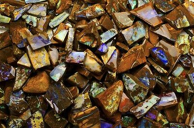 125 cts of Koroit Boulder Opal - Hand Trimmed and Sorted High Quality Slices!